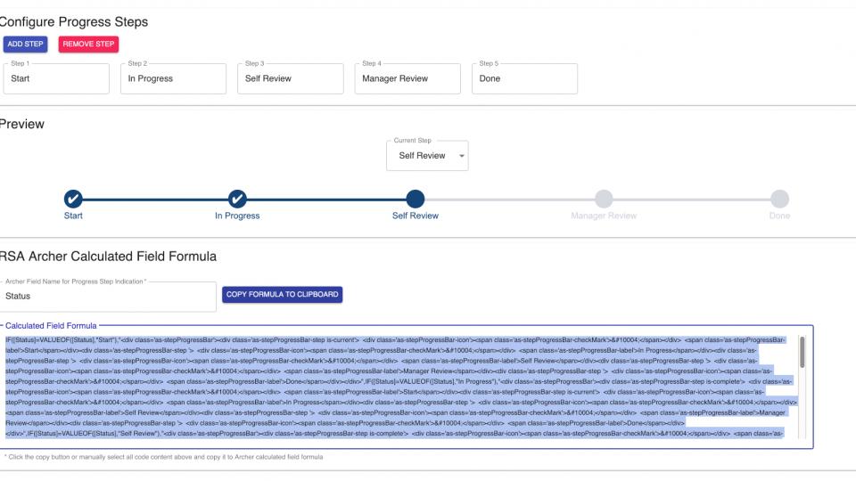 Archer Scripts – Progress Chart Calculation Generator